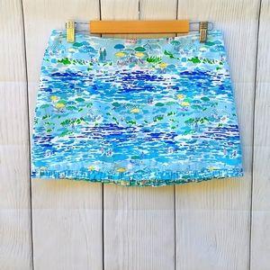 Lilly Pulitzer beach scene print skirt
